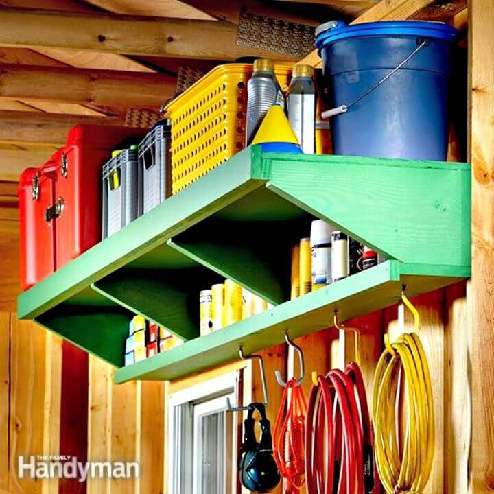 Adorable DIY Double Decker Garage Storage Shelves