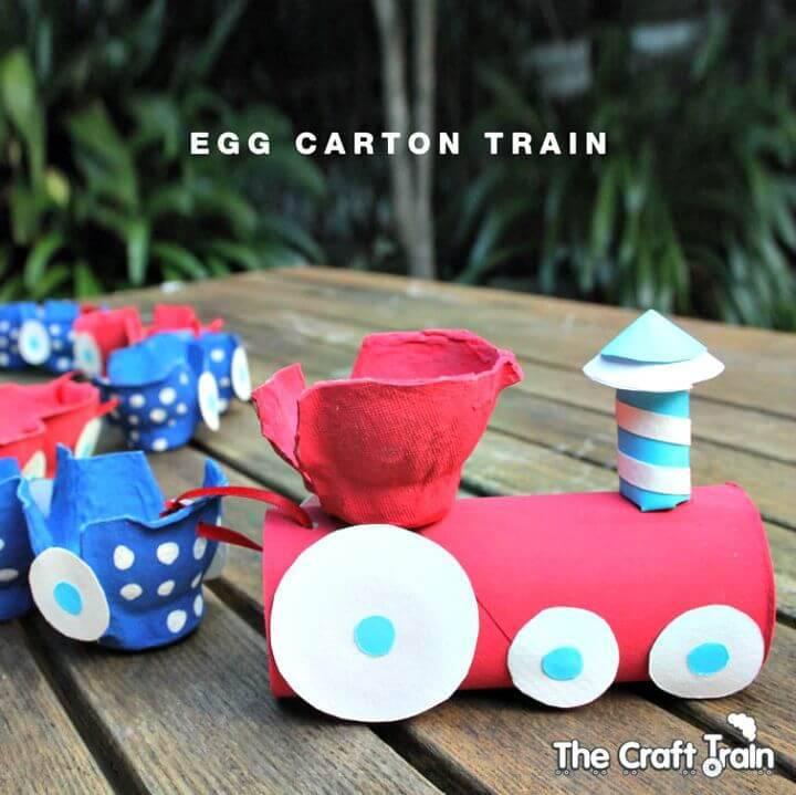 Adorable DIY Egg Carton Train for Kids