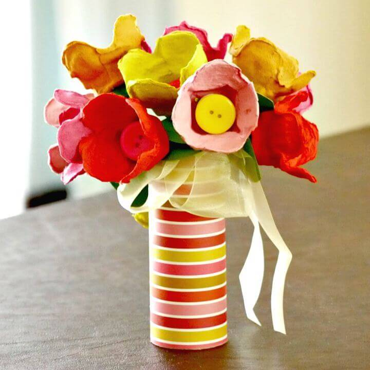 How to Make Egg Carton Tulips - DIY