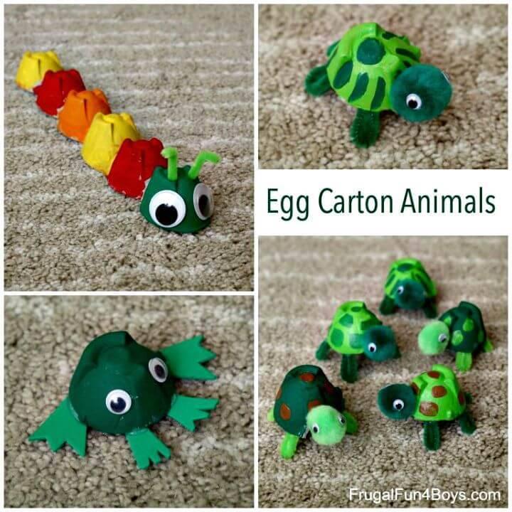 DIY Egg Carton Turtle Craft