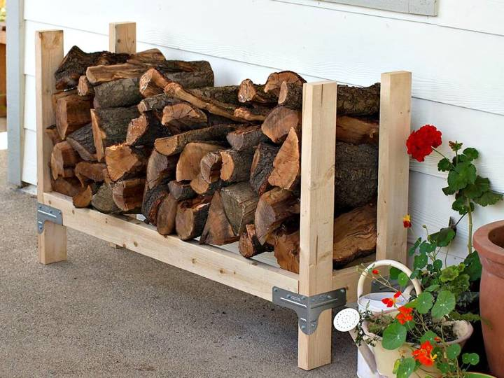 Build Your Own Firewood Rack - DIY Woods Storage Idea