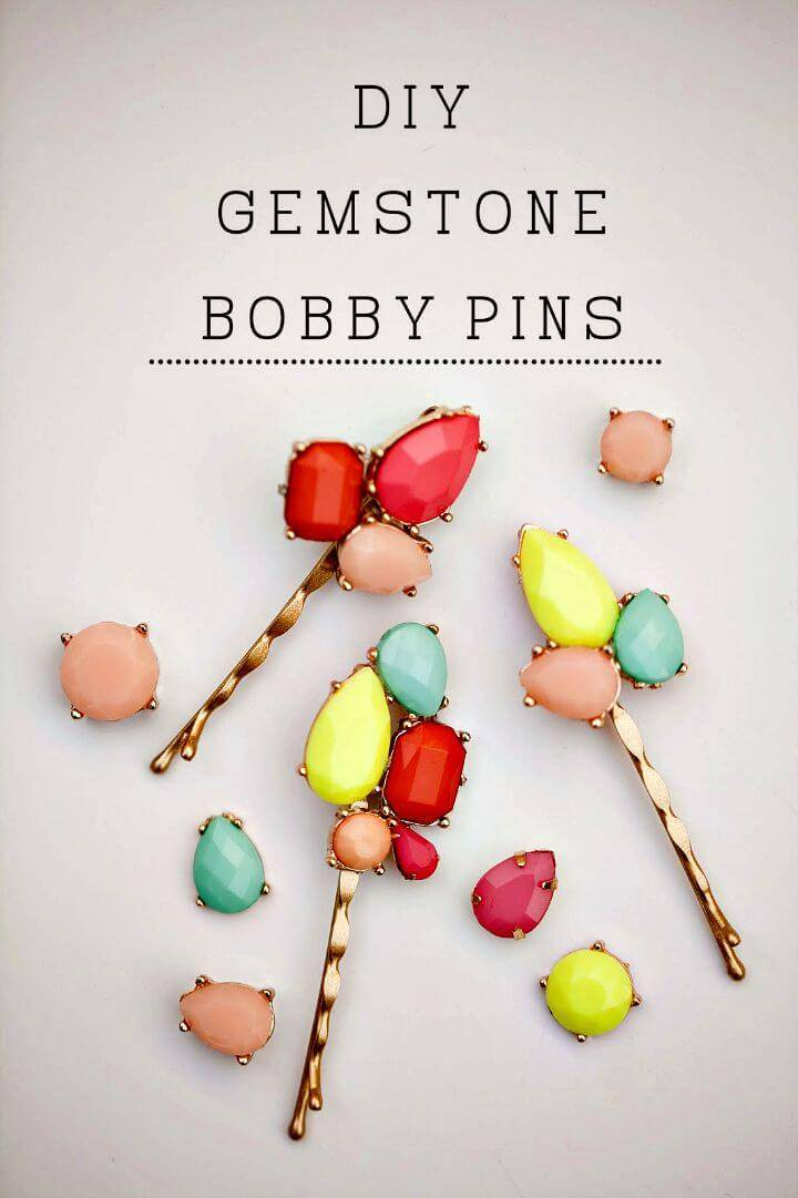 Quick DIY Gemstone Bobby Pins