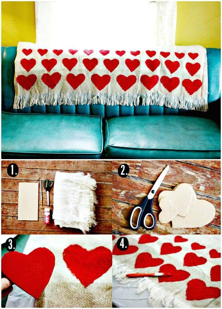 Adorable DIY Heart Blanket Tutorial