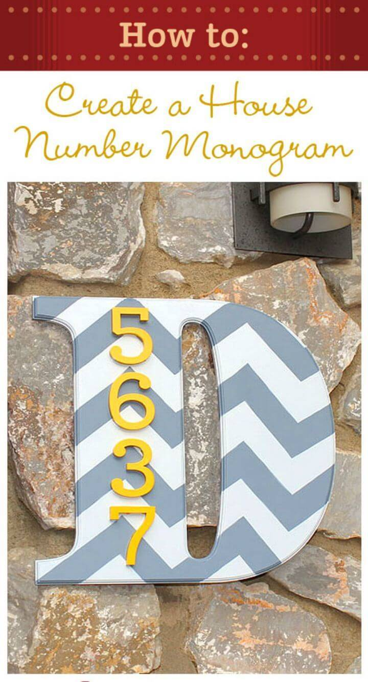 DIY House Address Number Monogram