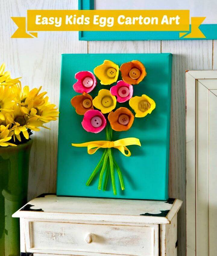 DIY Kids Will Love This Egg Carton Art