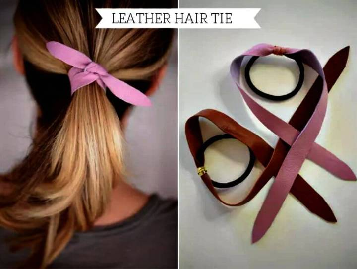 How to Make Leather Hair Tie - DIY