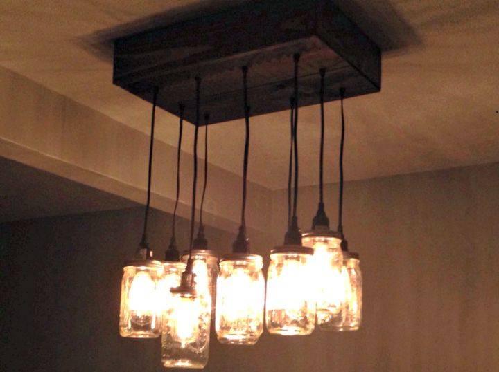 How to make Mason Jar Chandelier - DIY Lightning Ideas