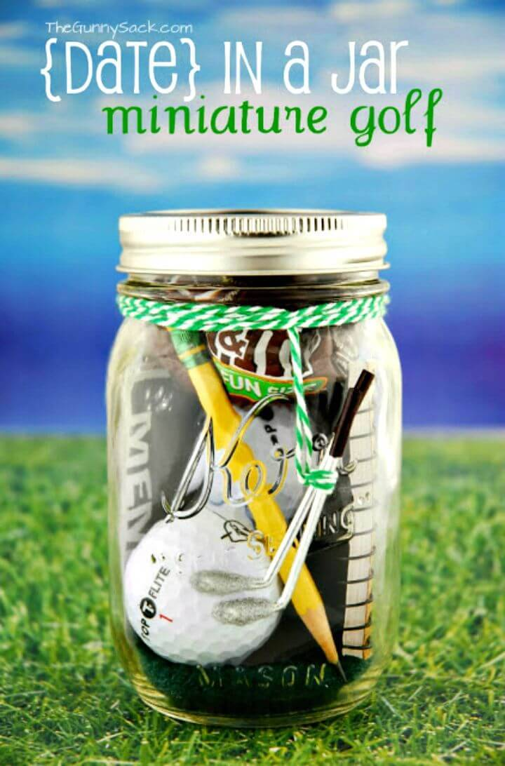 Adorable DIY Mini Golf Date In A Jar