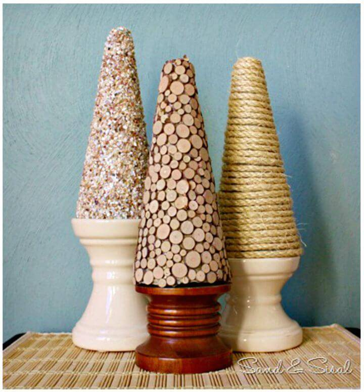 DIY Natural Textured Cones