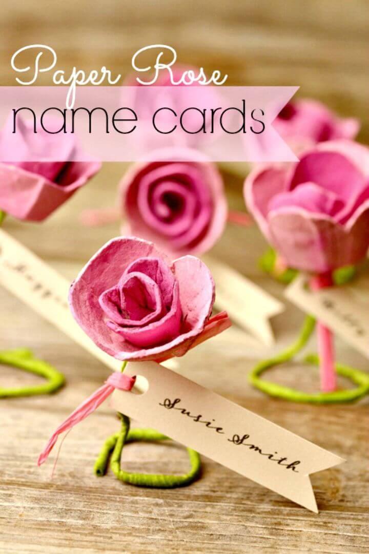 Easy DIY Paper Rose Escort Cards