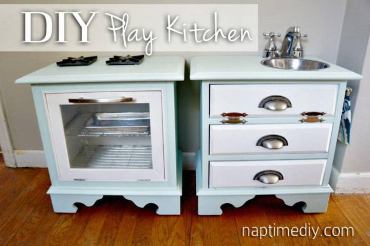 Adorable DIY Play Kitchen Tutorial