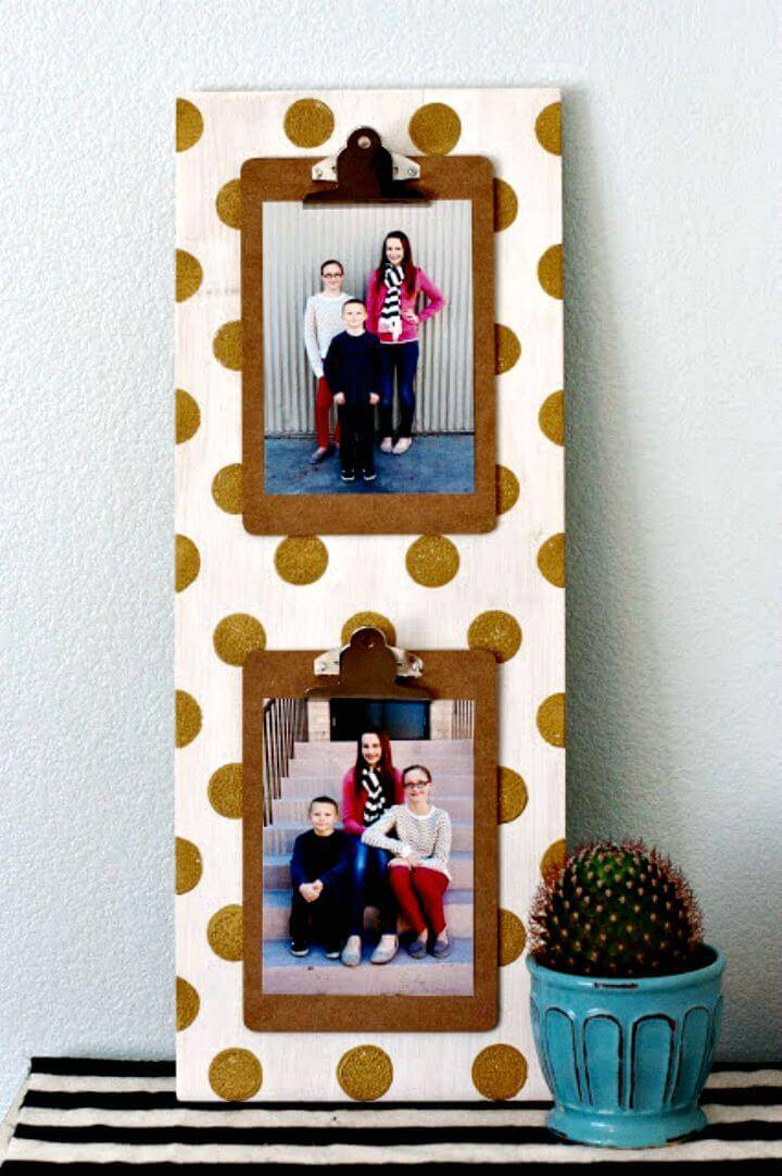 How to Make Polka Dot Clipboard Sign - DIY Crafts