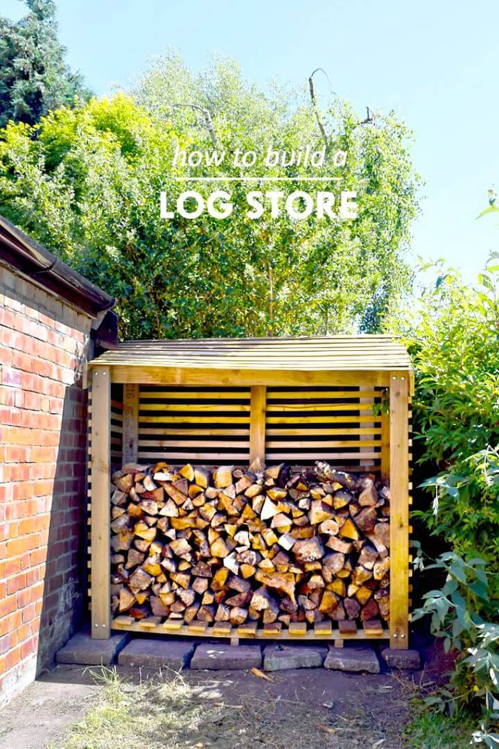 Adorable DIY Storage Shed for Firewood