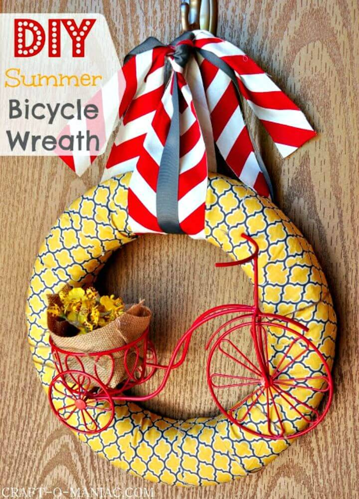 Adorable DIY Summer Bicycle Wreath
