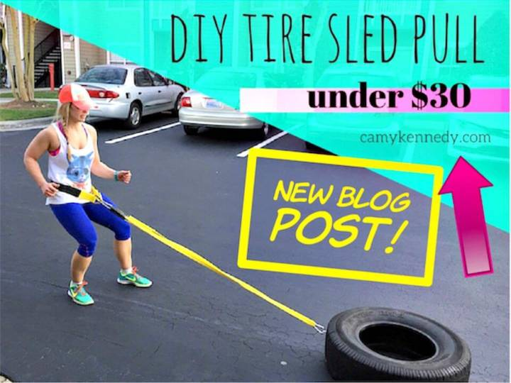 DIY Tire Sled Pull with Straps and Belt Under $30