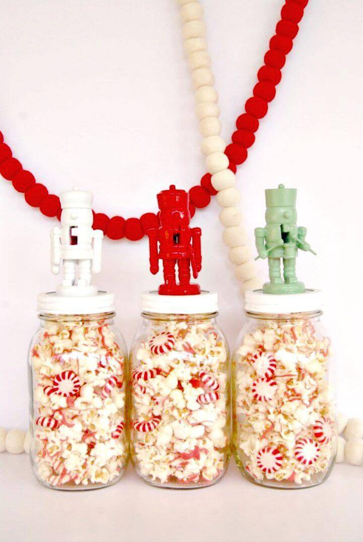 Amazing DIY Nutcracker Jar Toppers - Mason Jar Crafts