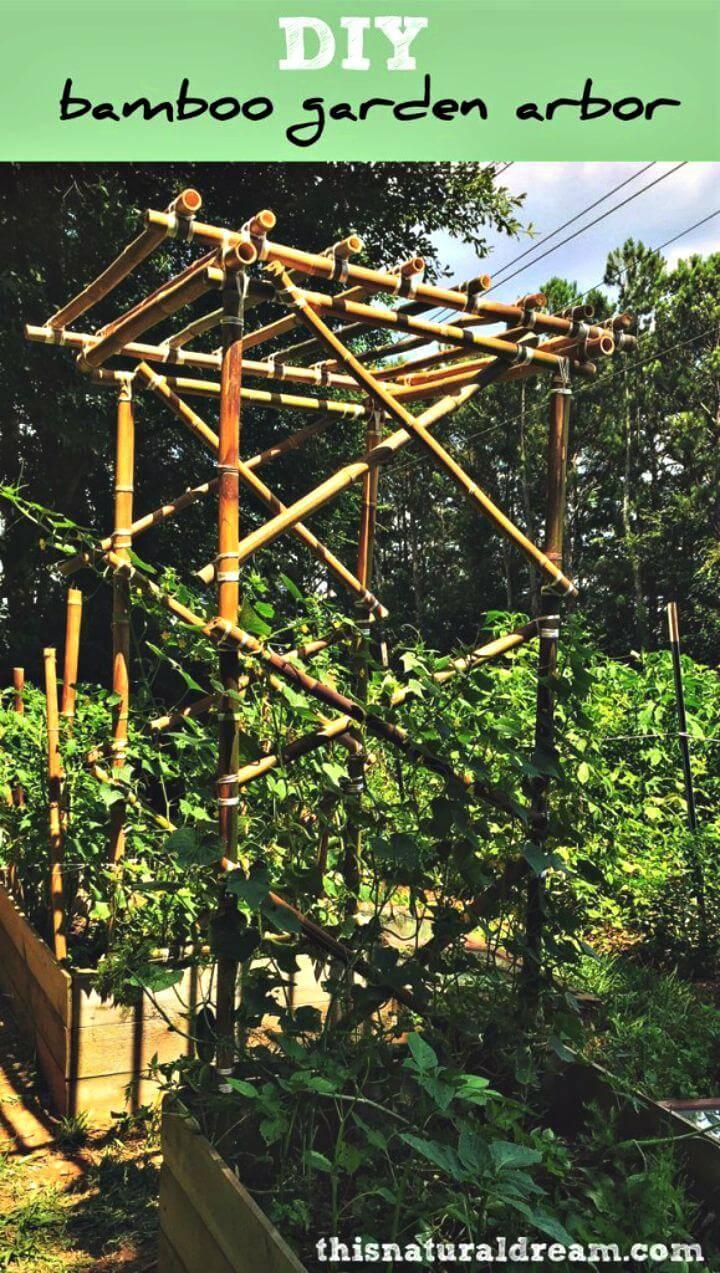 Awesome DIY Bamboo Garden Arbor