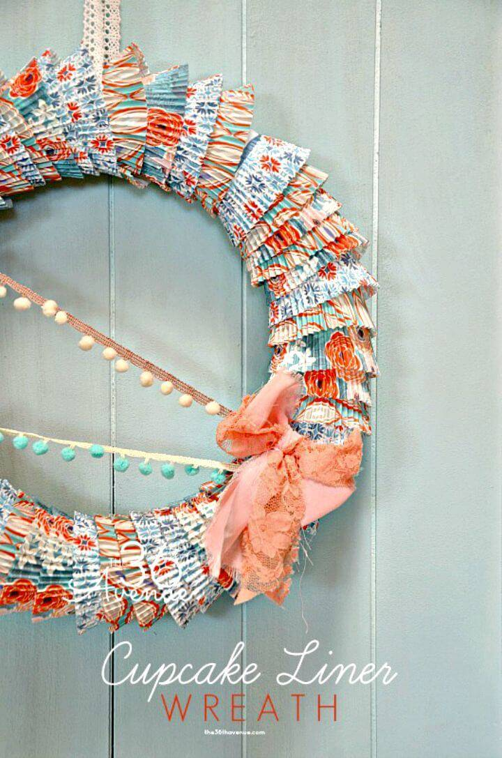 DIY Cupcake Liners Summer Wreath