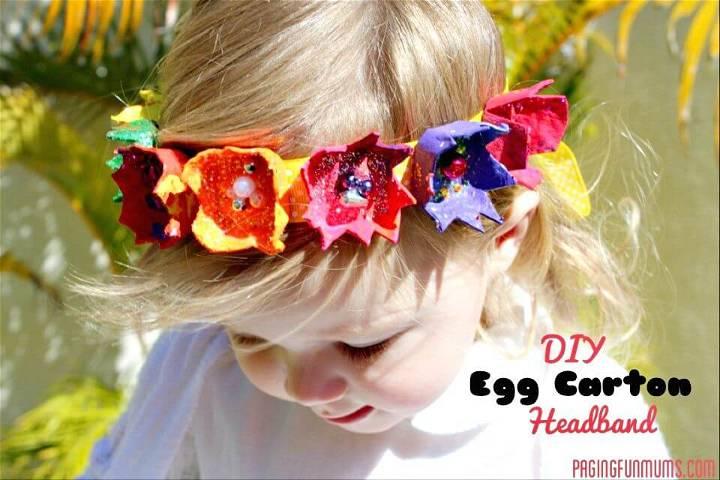 DIY Egg Carton Headbands for Little One
