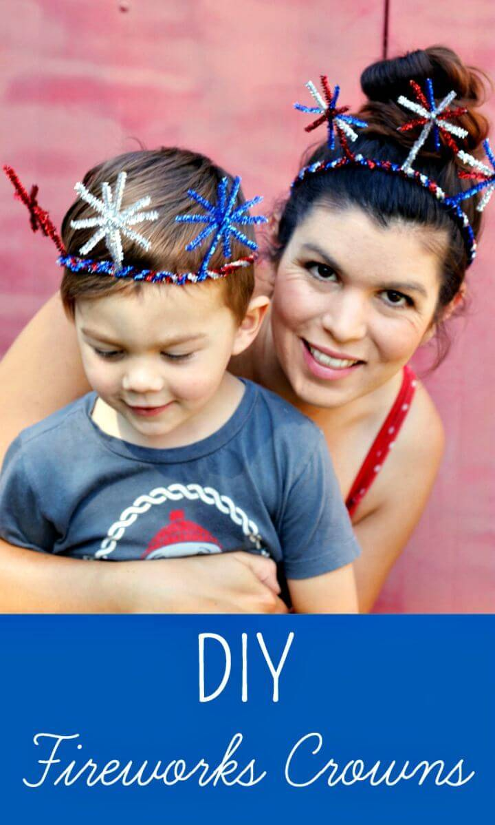 Awesome DIY Fireworks Crowns for Both Mom and Baby
