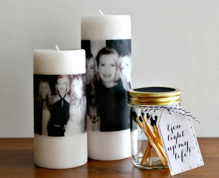 Awesome DIY Photo Candles