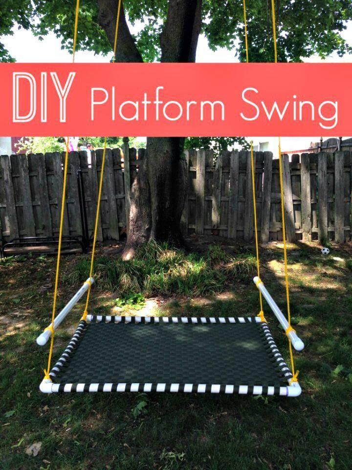 DIY PVC Pipe Platform Swing
