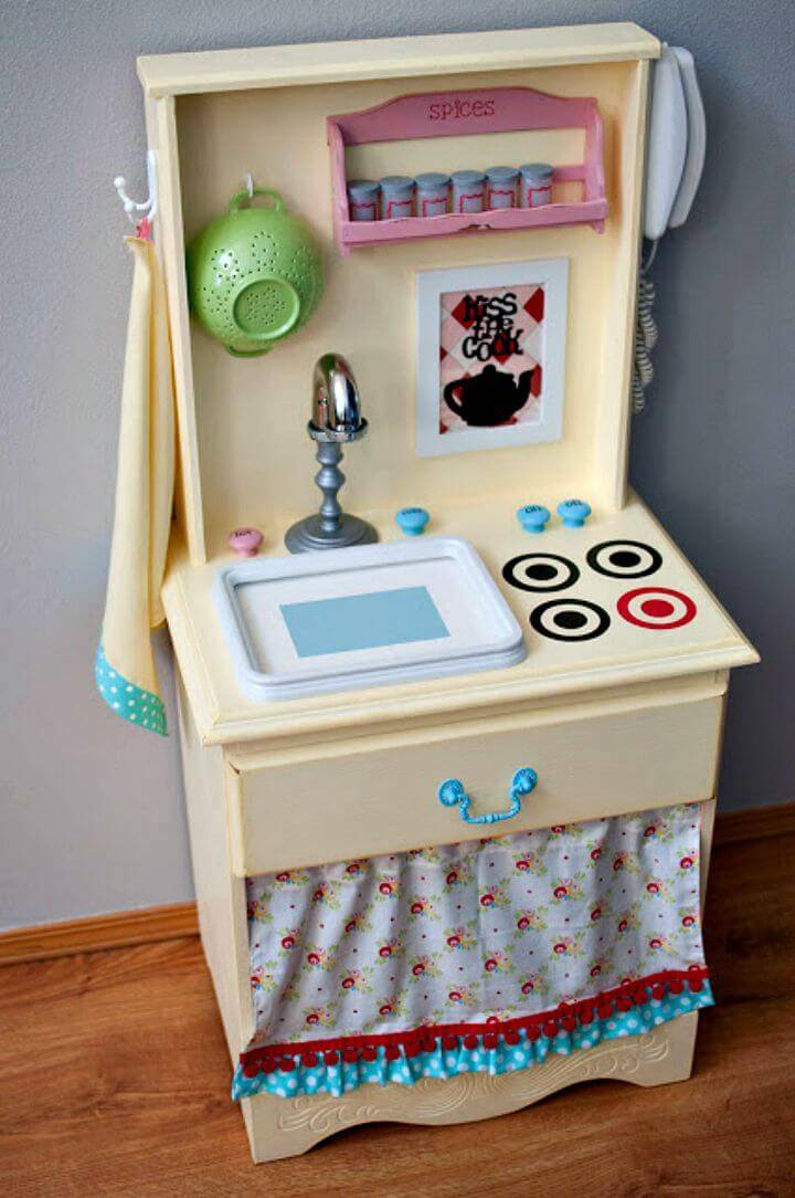 Awesome DIY Play Kitchen Reveal