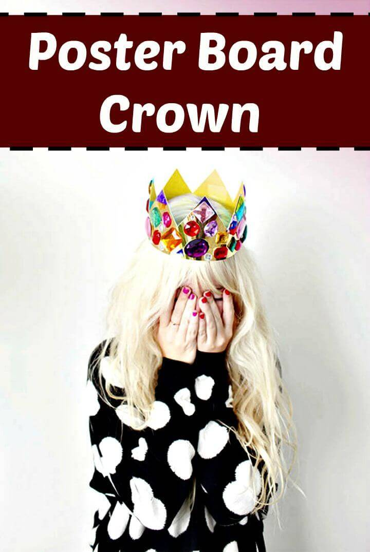 Simple DIY Poster Board Crown for Next Party