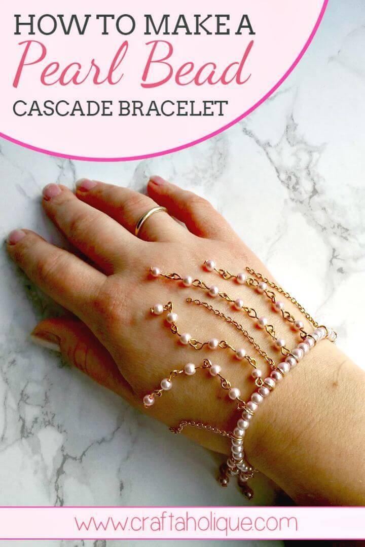 DIY Cascading Beaded Fringe Bracelet