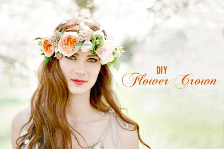 Beautiful DIY Flower Crown for Spring Parties