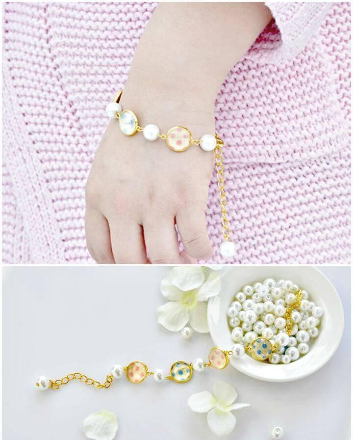 DIY Glass Cabochon Bracelet Gift