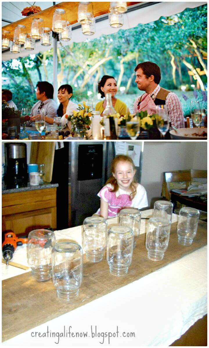 DIY The Mason Jar Chandelier for Summer Parties Decor