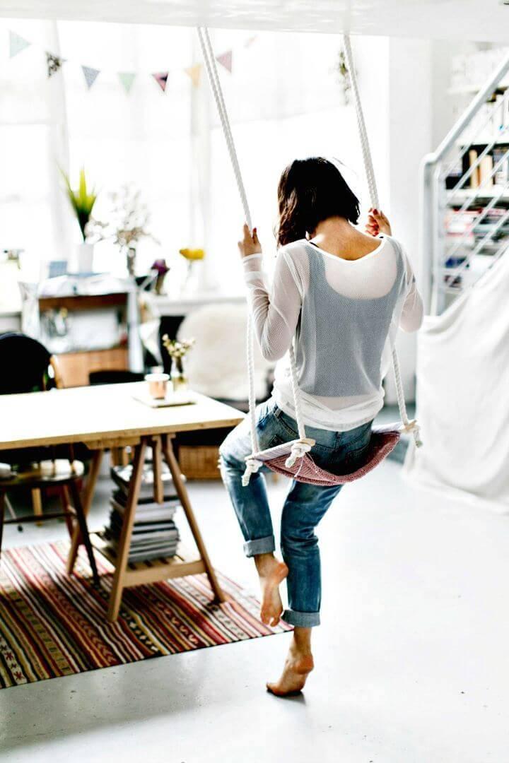 DIY Knitting An Indoor Swing