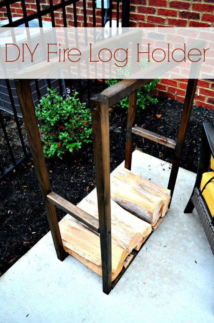 Build Your Own Fire Log Holder - DIY Woods Storage