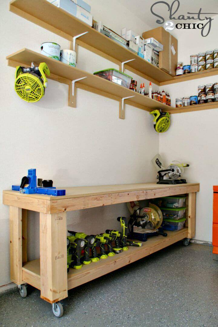 Build Your Own Garage Workbench - DIY