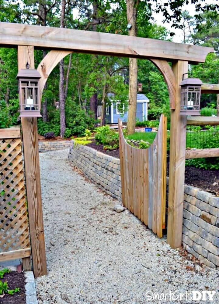 How to Build Your Own Garden Arbor - DIY