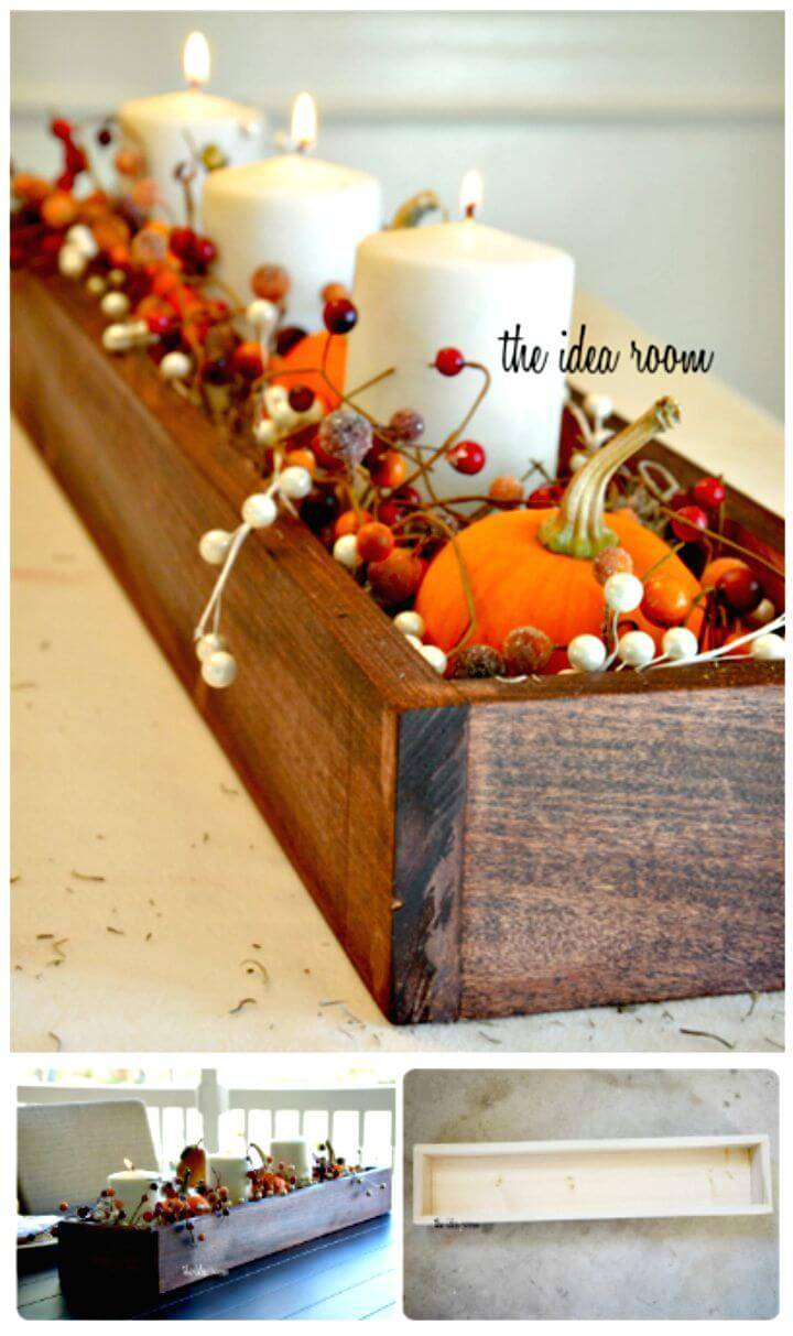 DIY Wooden Box Centerpiece Tutorial