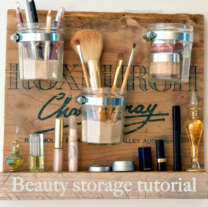 How to Build a Beauty Station - DIY Makeup Storage Ideas