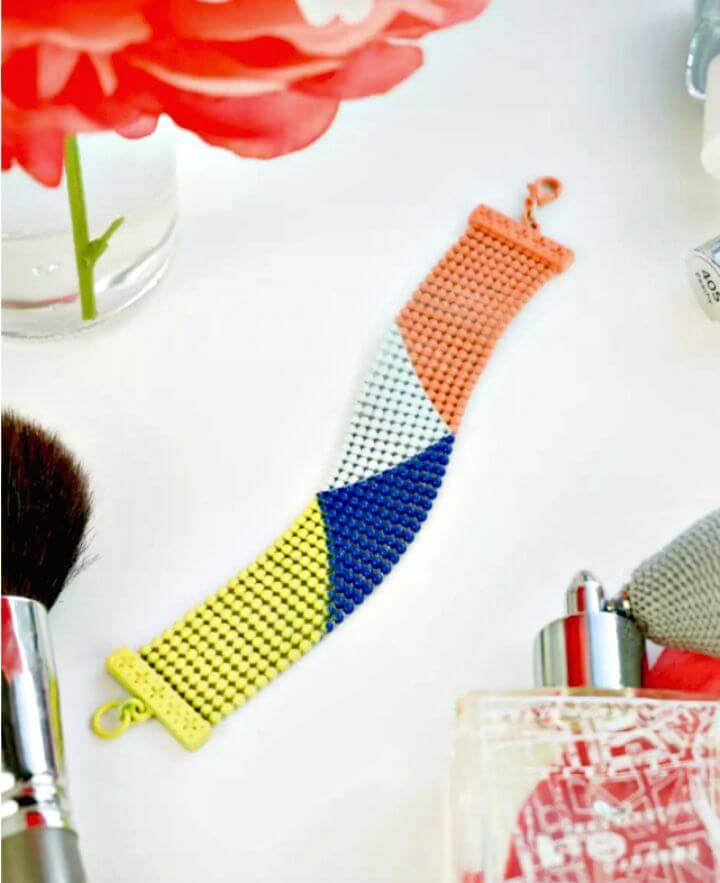 Chic and Easy DIY Colorblock Bracelet