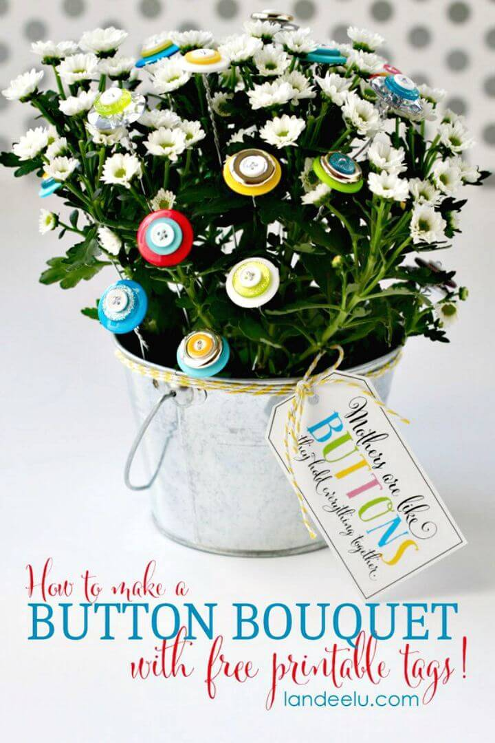 Create A Button Bouquet - DIY Mother's Day Gift