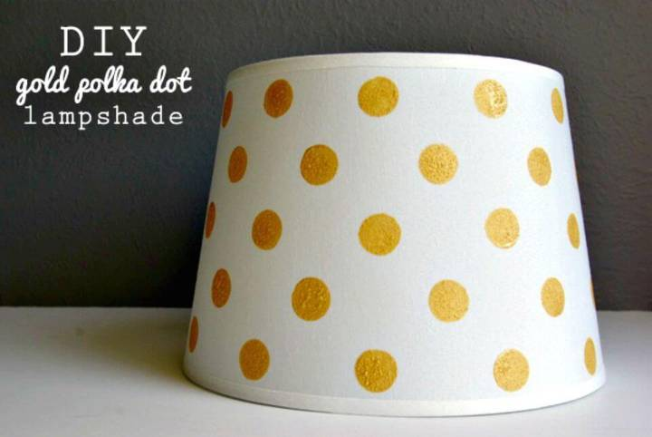 Create Gold Dot Lampshade - DIY Indoor Decor