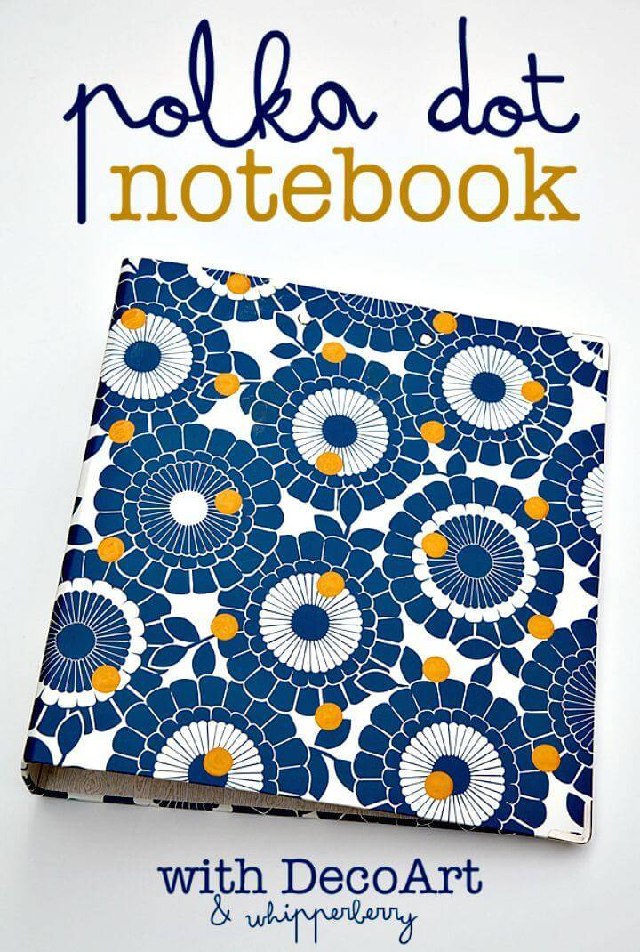 Create Polka Dot Notebook for Back to School - DIY