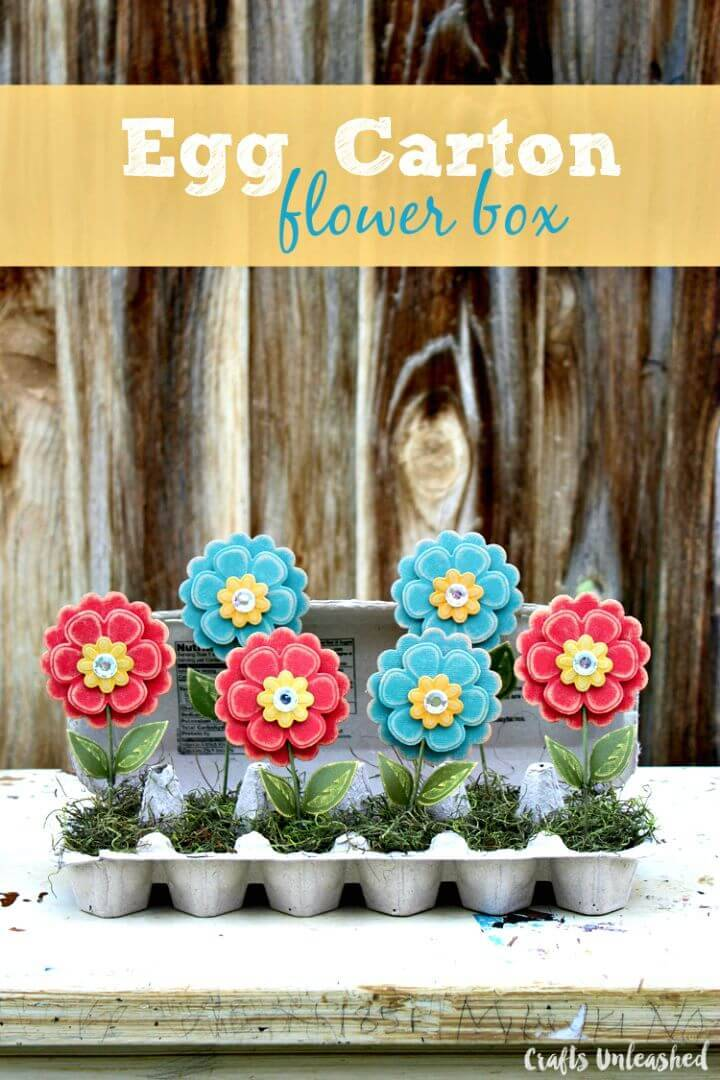 Create Recycled Egg Carton Craft Flower Box - DIY
