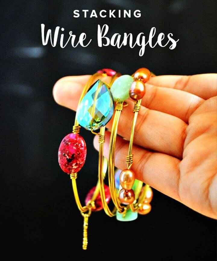Create Stacking Wire Bangles - DIY Homemade Jewelry Ideas