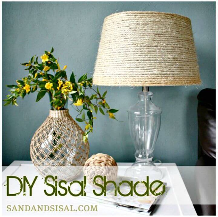 Create Your Own Sisal Shade - DIY Coastal Decor