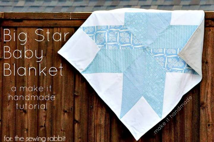 Cute DIY Big Star Baby Blanket