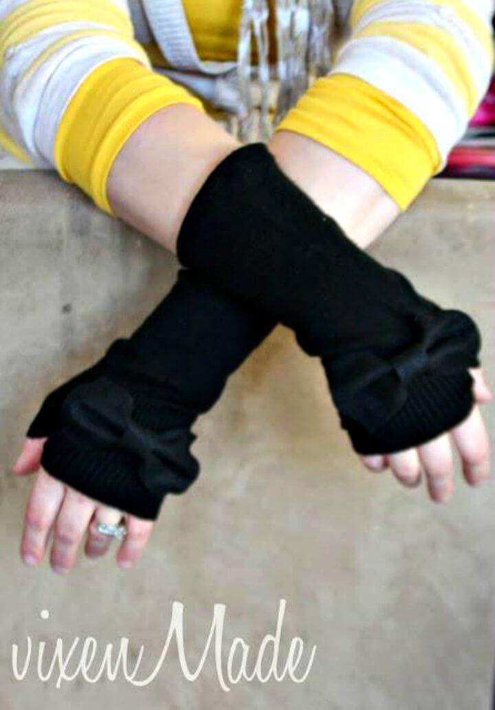 Cute DIY Fingerless Gloves