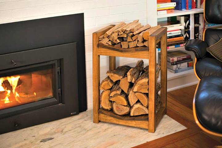 Inexpensive DIY Firewood Rack for Wood Storage