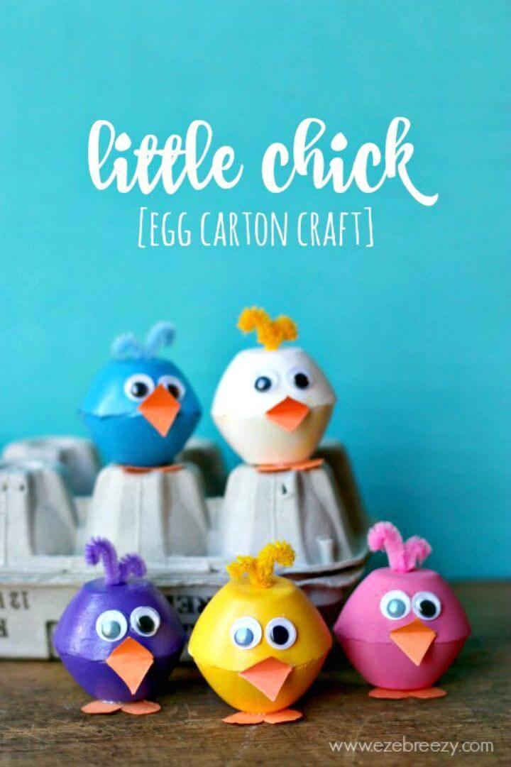 Cute DIY Little Chick Egg Carton Craft