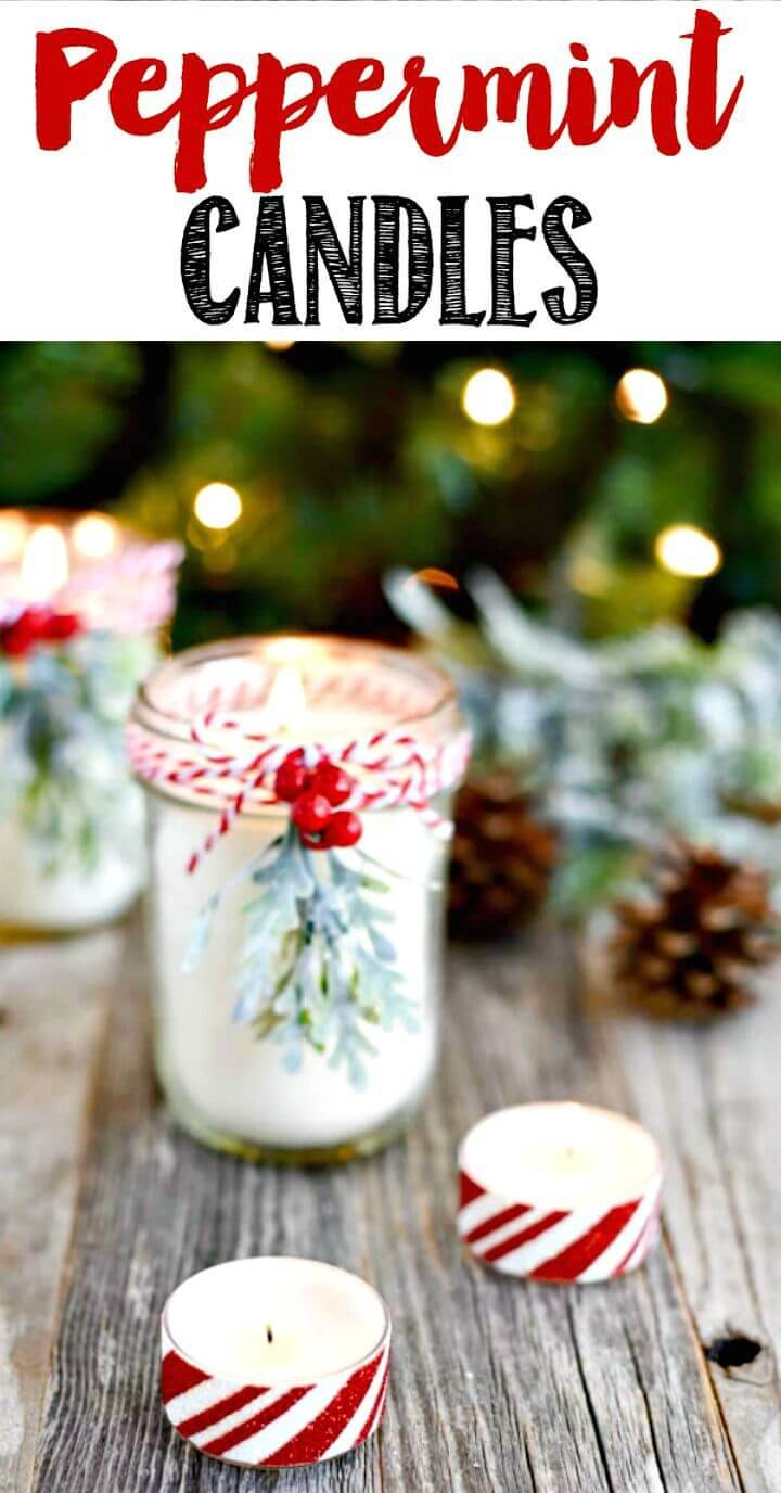 Cute DIY Peppermint Mason Jar Candles - Mothers Day Gifts